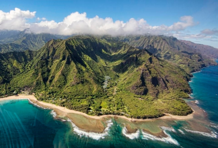 Hawaiin island of Kauai where Karaka is most abundant